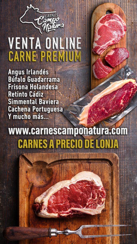 Tienda online para comprar carne de cachena portuguesa, Angus Irlandés, Búfalo de Guadarrama, Frisona Holandesa, Retinto de Cádiz, Simmental